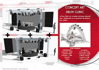 Drum clinic - Cirque k - Studio faiseurs de cirque Ismail konaté - Julien Kozlowski
