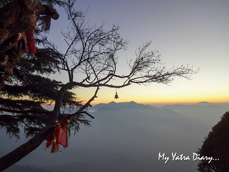 Spectacular sunset at Mukteshwar Temple, Uttarakhand