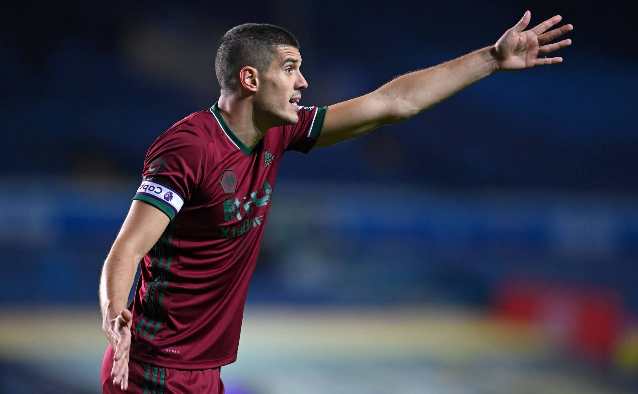 Conor Coady tells Jamie Carragher he's happy at Wolverhampton.