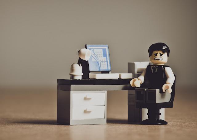 Lego mannetje baas