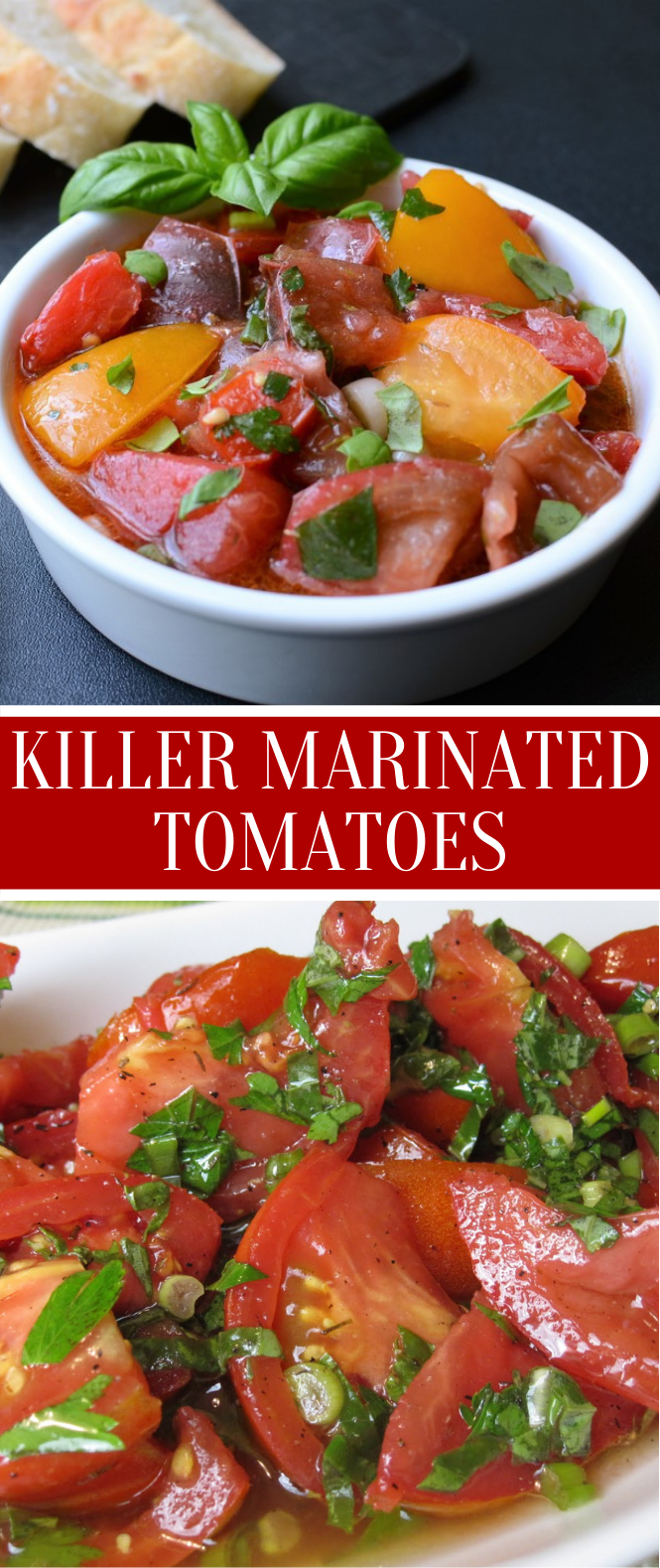 Killer Marinated Tomatoes #vegetable #appetizers