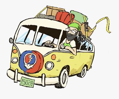Gambar kartun naik mobil