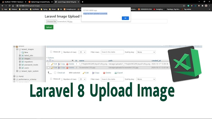 Upload Image in Laravel 8 using Ajax
