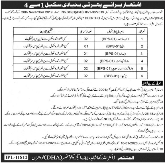 Primary Pass Jobs in Lodhra