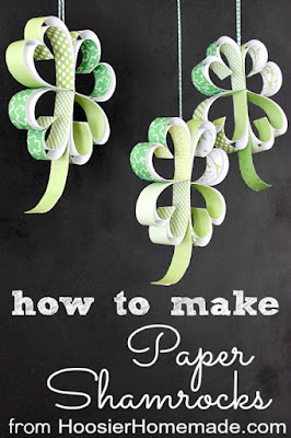 http://hoosierhomemade.com/st-patricks-day-craft-how-to-make-paper-shamrocks/