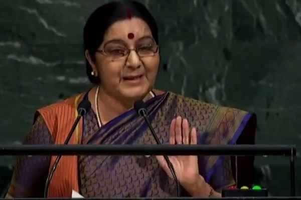 sushma-swaraj-said-india-open-free-bank-account-more-than-america-polulation