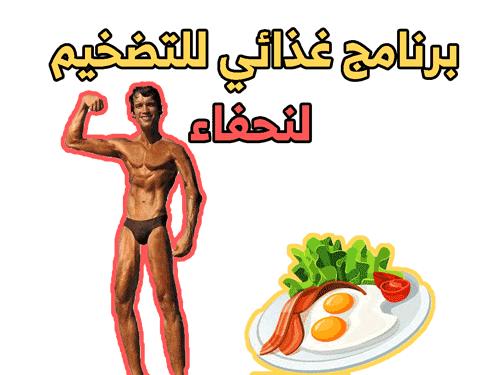 برنامج غذائي للتضخيم