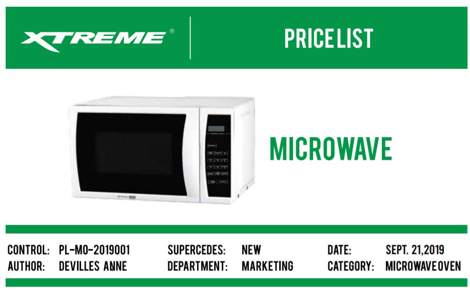 Xtreme Microwave Oven