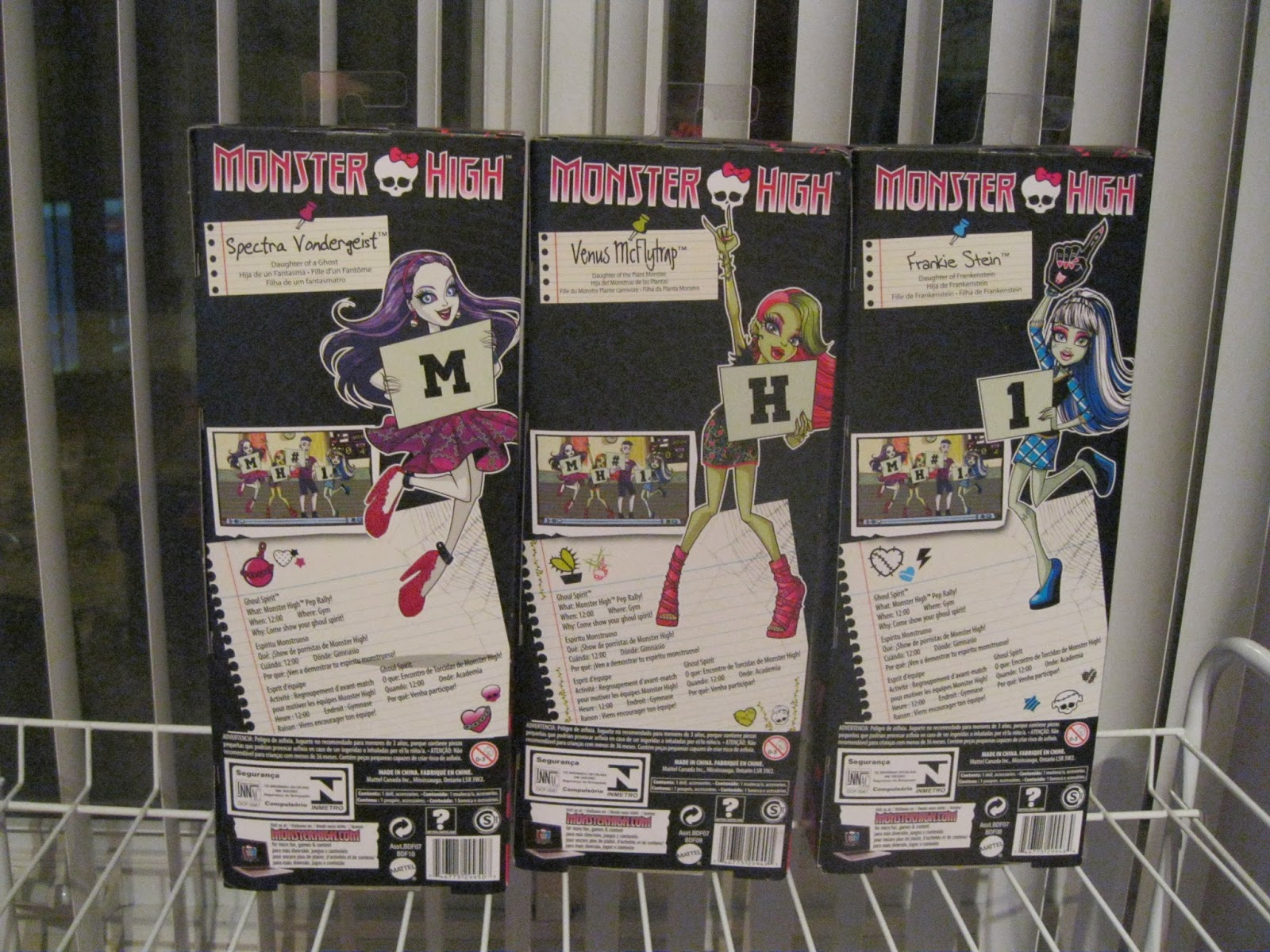 Monster High Frankie Stein Positions