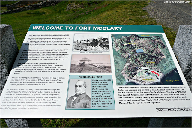 Carteles Informativos del Fort McClary State Historic Site en Kittery, Maine