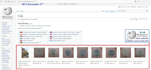 Celle's sister cities at english Wikipedia