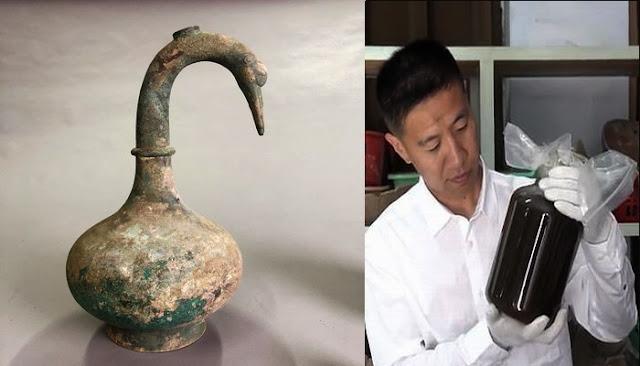 Κινέζοι αρχαιολόγοι ανακάλυψαν ένα δοχείο 2.000 ετών με ένα Μυστηριώδες Υγρό