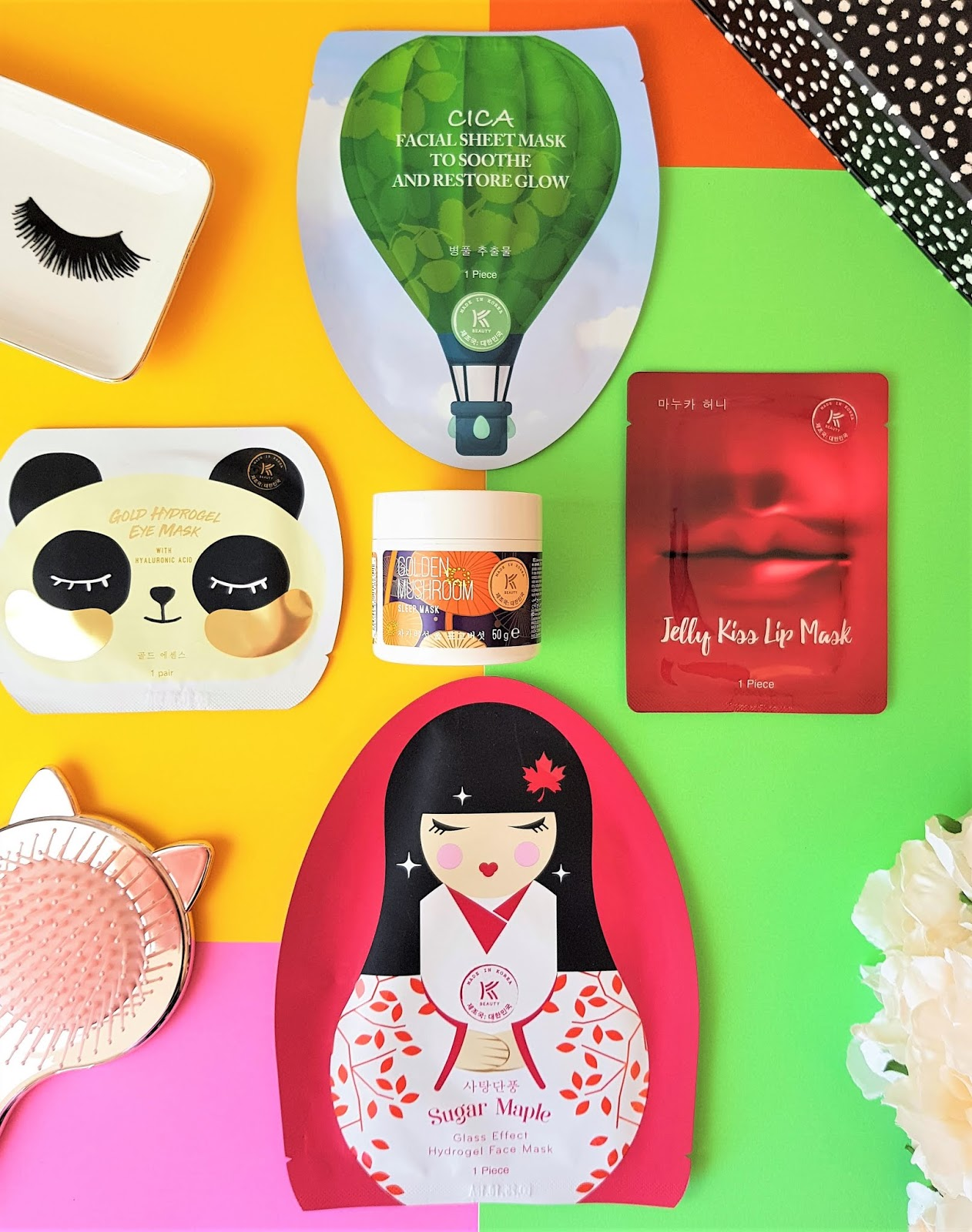 KBEAUTY by AVON Flatlay of Masks from Avons New KBeauty Range