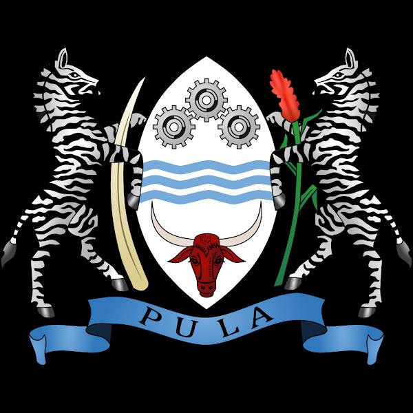 Logo Gambar Lambang Simbol Negara Botswana PNG JPG ukuran 600 px