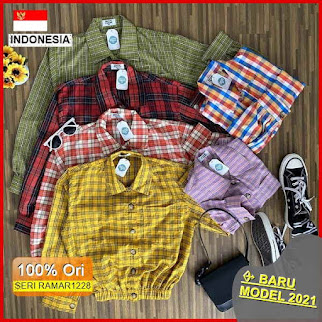 RAMAR1228 NEW SET GRACE BUTTON SHIRT BARU 2021