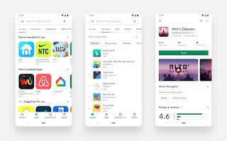 Download new Play Store updated with Material Design 2