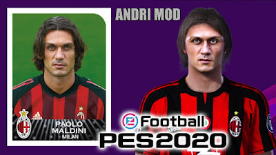 PES 2020 Faces Paolo Maldini by Andri Mod