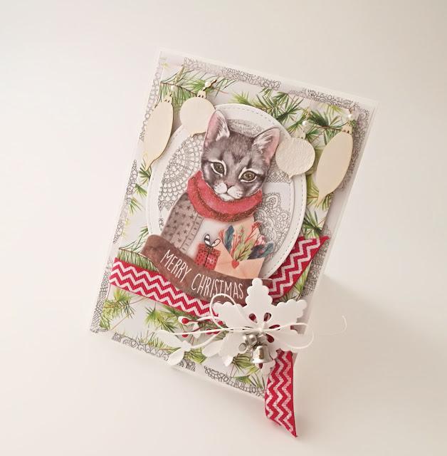 Świąteczne kartki z kotem