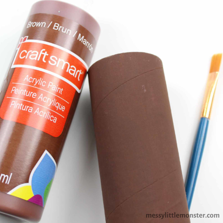 painted cardboard tube