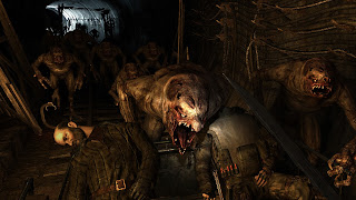 Horrifying mutants chase a cart through the Moscow subway, from Metro 2033