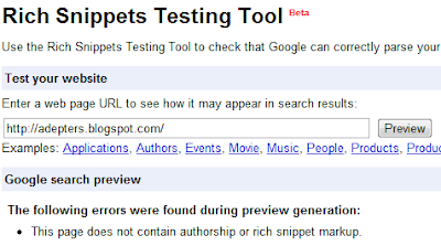 Rich Snippet checker tool image