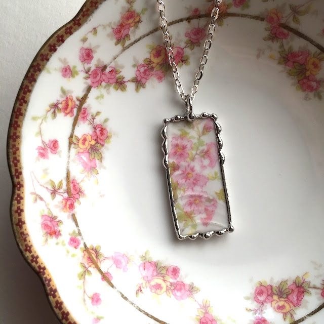 French Limoges necklace from Laura Beth Love