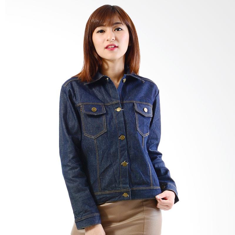 Jfashion Simpel Elegan Santi Jaket Jeans Wanita