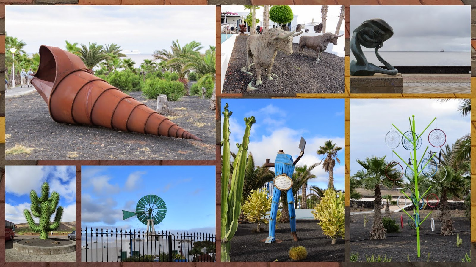 Sculptures on Lanzarote in January
