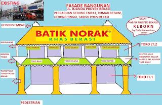 REVITALISASI PASAR PROYEK BEKASI-FASADE TOKO JL. JUANDA Bekasi
