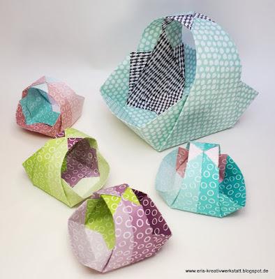 Teamtreffen auf Balkonien - meine Gästegoodies, Origami-Körbchen Stampin' Up! www.eris-kreativwerkstatt.blogspot.de