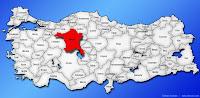 Ankara ilinin Türkiye haritasında gösterimi