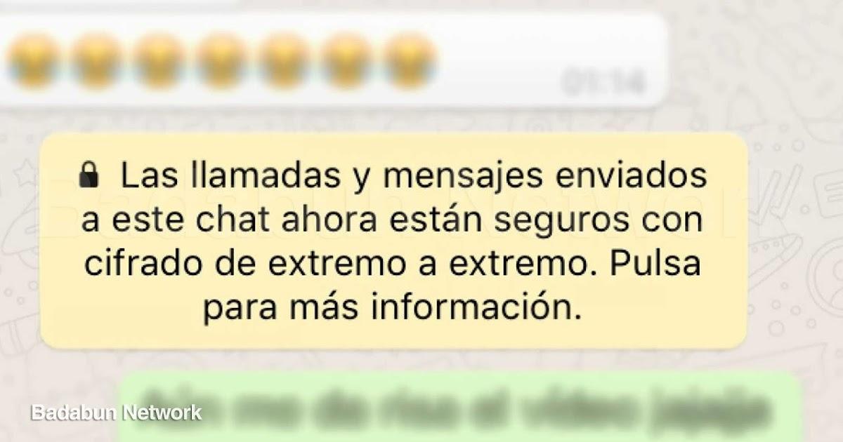 whatsapp tecnologia mensaje cifrado seguridad cibernetica