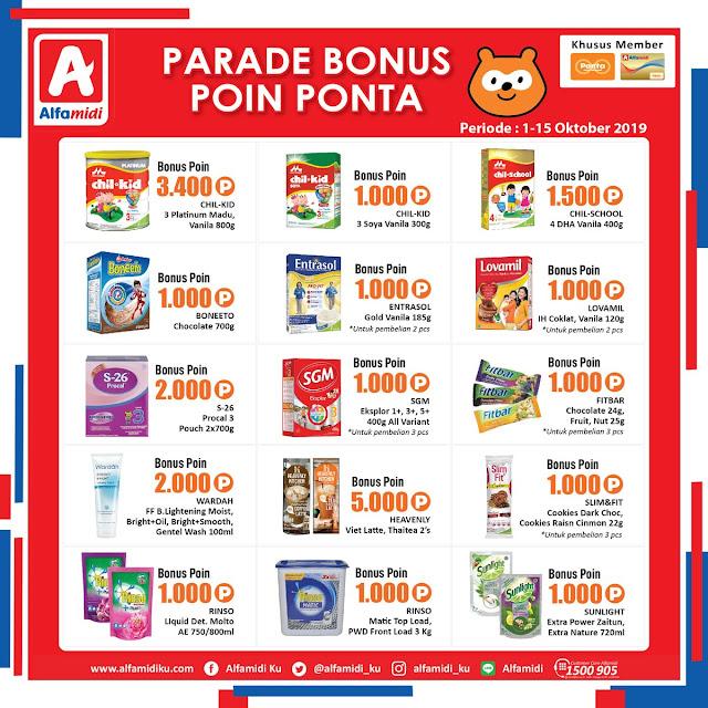 #Alfamidi - #Katalog Promo Spesial Member PONTA ( 01 s.d 15 Okt 2019)