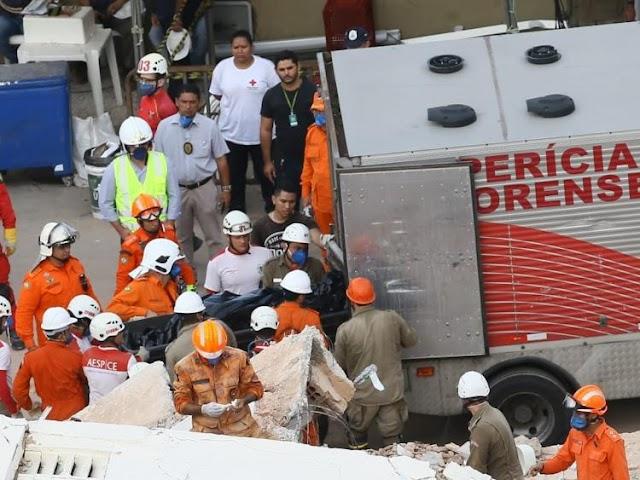 Confirmada 4ª morte pelo desabamento de prédio em Fortaleza