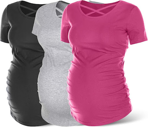 Unique Sleeveless Maternity Tank Top with Front Button & Side Ruched  |  Summer Nursing T Shirt