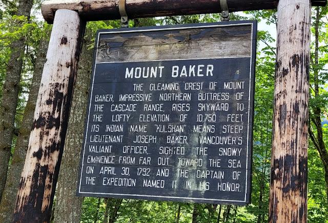 short information history sign of Mt. Baker