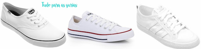 Tendência: O queridinho e amado tênis branco.