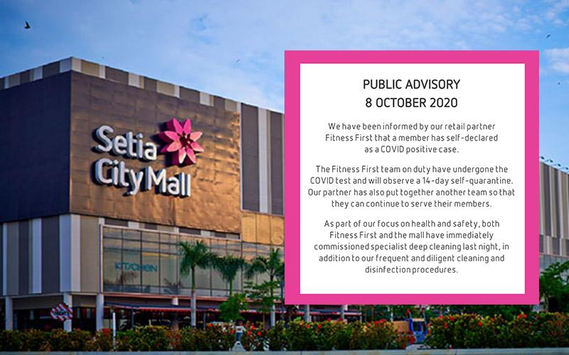 Satu Lagi Kes COVID-19 Di Shopping Mall, Kali Ini Melibatkan Ahli Fitness First Di Setia City Mall