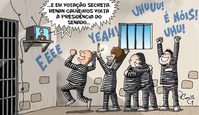 Líder da Rebelião dos Corruptos, Renan Calheiros, não aceita decisão de ministro do STJ