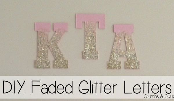The Blush Blonde: D.I.Y. Faded Glitter Letters