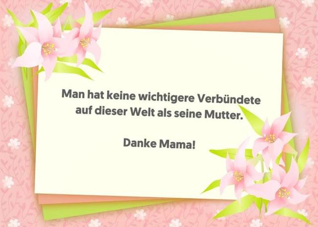 SMS grueße muttertag danke mama