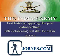 Indian Army Recruitment 2017 for various posts  apply online here