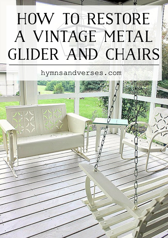 HOW TO RESTORE METAL GLIDER AND CHAIRS