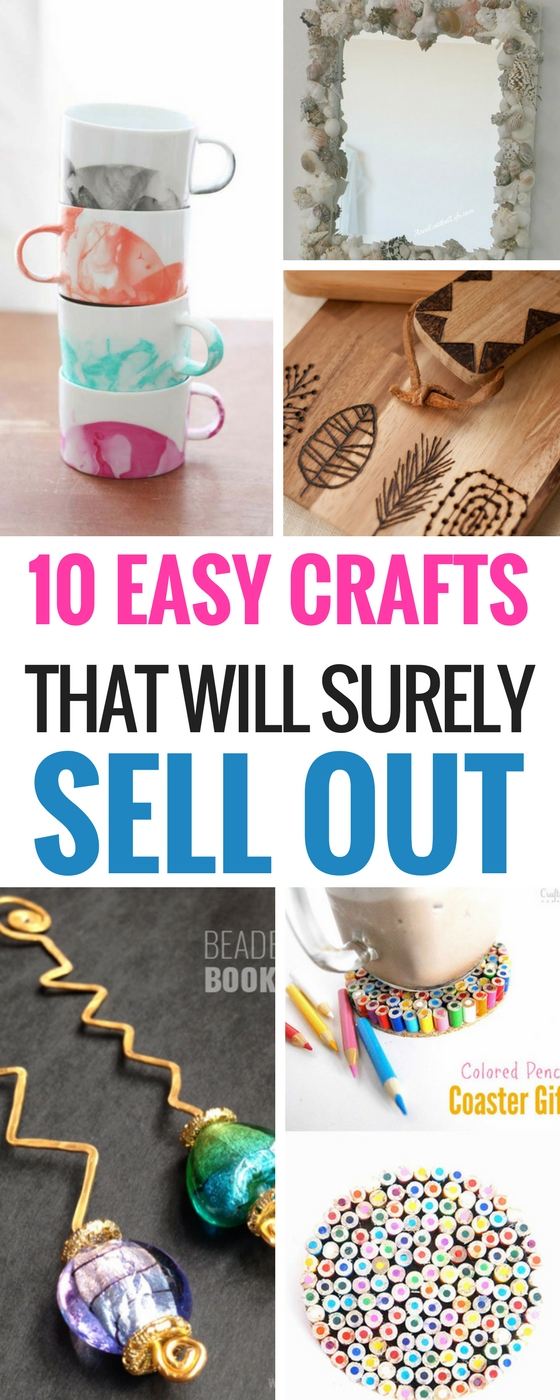 10 easy diy crafts that will totally sell craftsonfire for Cheap crafts to make and sell