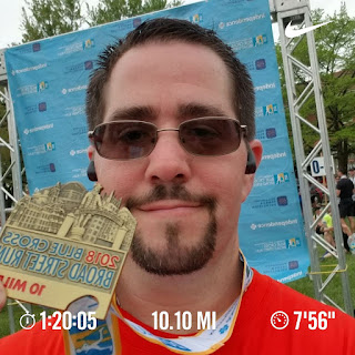BroadStreetRun post race selfie with medal