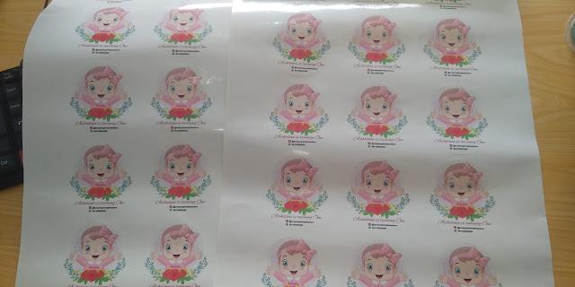 Stiker Ulang Tahun Cutting Bulat