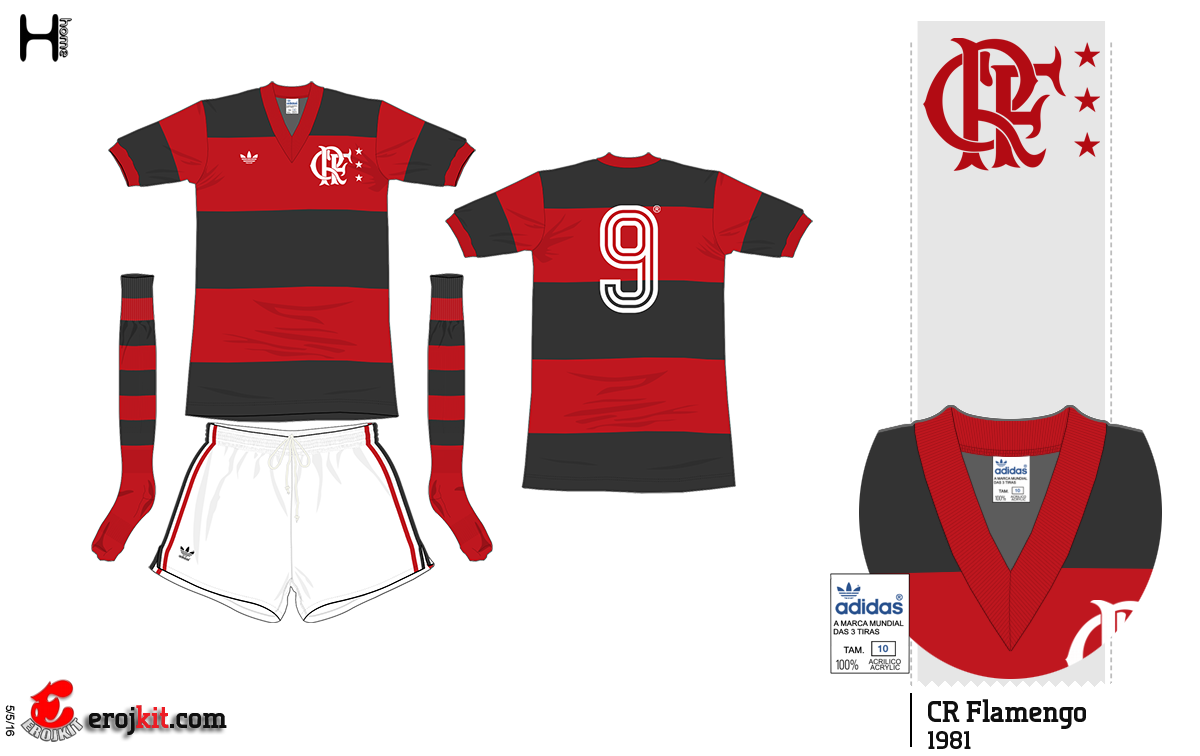 Essas foram umas das primeiras camisas da Adidas para o Flamengo f51d8ea1509e5