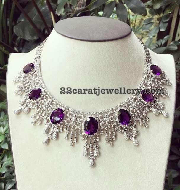 Diamond Amethyst Necklace