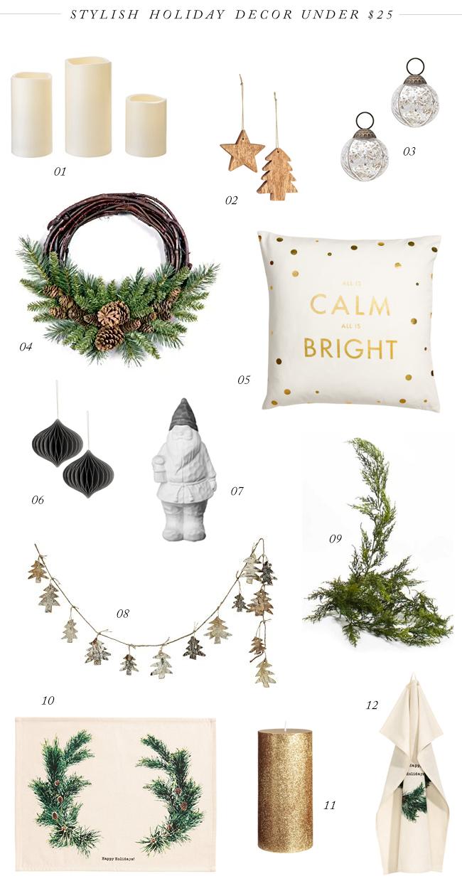 12 Stylish Holiday Decor Pieces Under $25