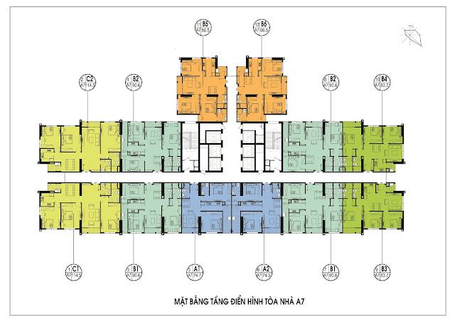 Mặt bằng tổng thể tòa A7 An Bình City